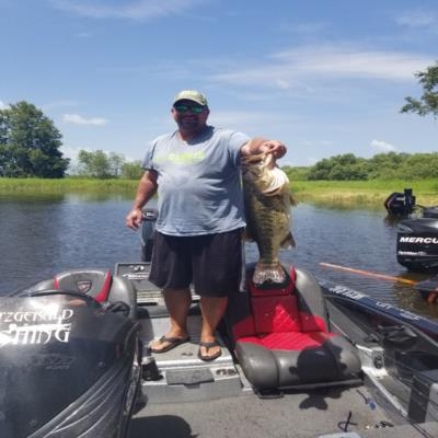 Rich Howes of Fitzgerald Fishing on Lake Toho